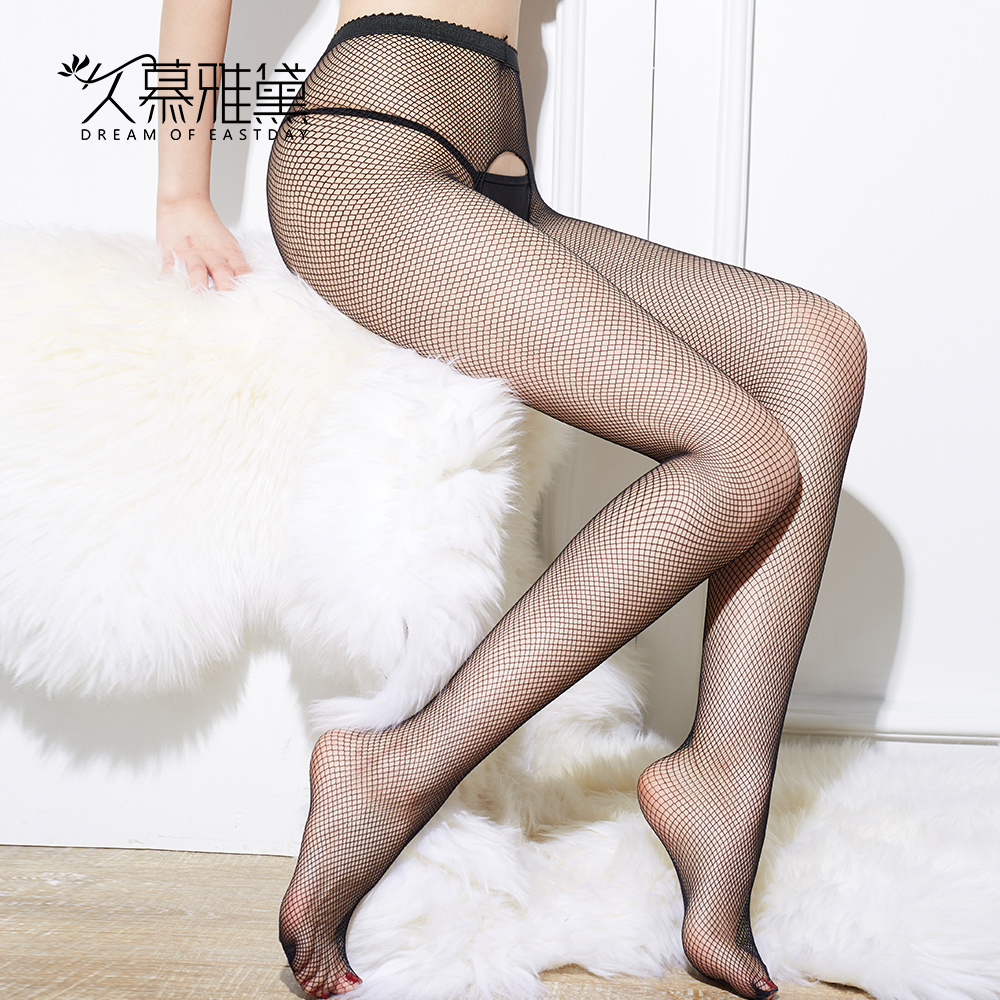 DRAIMIOR Erotic Open Crotch Pantyhose Female Girl Stocks <font><b>Sexy</b></font> Fishnet Lace Nylon Top Mesh Thigh High Stockings Long Tights <font><b>2013</b></font> image