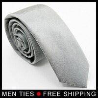 Perakende ve Toptan Adam Eğlence için Ücretsiz nakliye Erkekler Gümüş Bağları Kravat Dar 5 cm geniş Sıcak Satmak