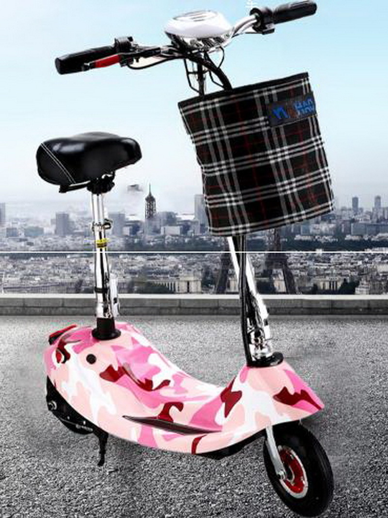 Best 261002/Ladies portable mini dolphin electric scooter / can carry children electric bikes / electric cars/Comfortable cushion 1