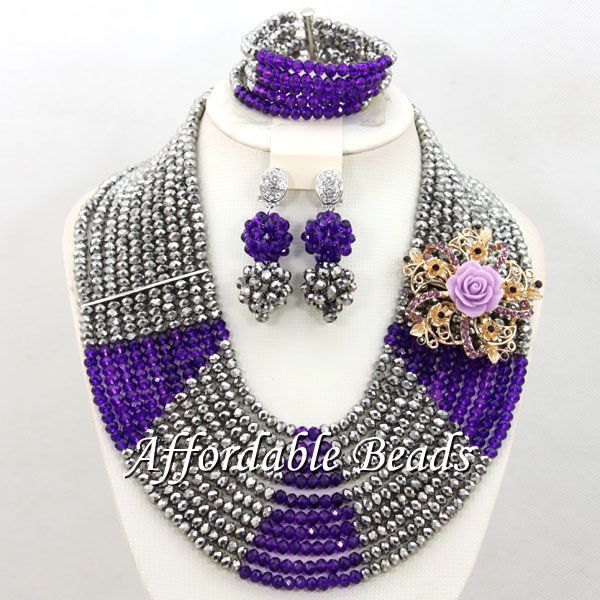 Latest Wedding Beads Jewelry Set Fashion African Jewelry Set Popular Style Wholesale Free Shipping BN548 yellow nigerian beads set popular african jewelry set popular style wholesale free shipping bn555