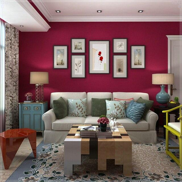 Camera da letto soggiorno sfondo muro solido texture pianura rosa ...