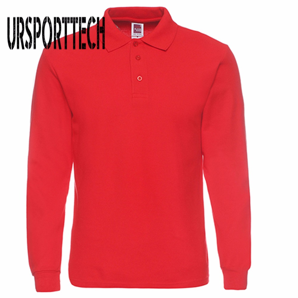 46e90e73e Mens Polo Shirt Brands 2017 Male Long Sleeve Polo Shirts Men Fashion Casual  Cotton Slim Fit Polos Men Jerseys Plus Size XS-3XL