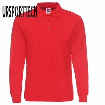 Mens Polo Shirt Brands 2019 Male Long Sleeve Shirts Men Fashion Casual Cotton Slim Fit Polos Jerseys Plus Size XS-3XL - discount item  51% OFF Tops & Tees