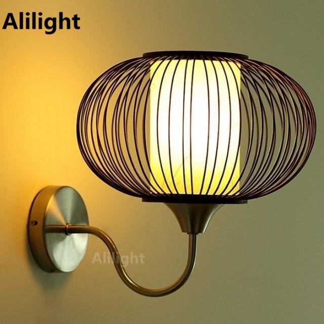 aplique de pared led de interior iluminacin para el hogar de estilo chino cortina de bamb