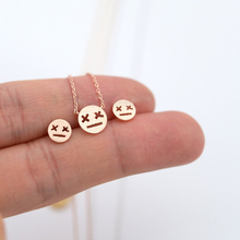 """Fashion cartoon expression pendant necklaces """"X X"""" eyes glazed expressions necklaces Game over expression pendant necklaces"""
