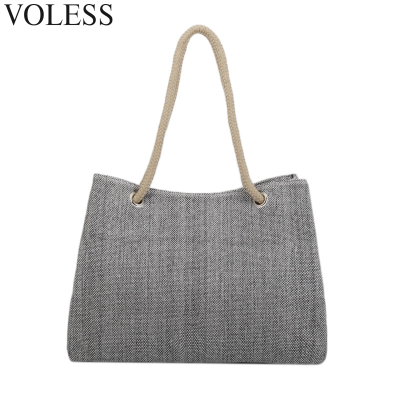 Summer Women Beach Bag High Quality Women Linen Bag Large Shopping Tote Bags Fashion Holiday Big Basket Bags For Women 2017 цена 2016