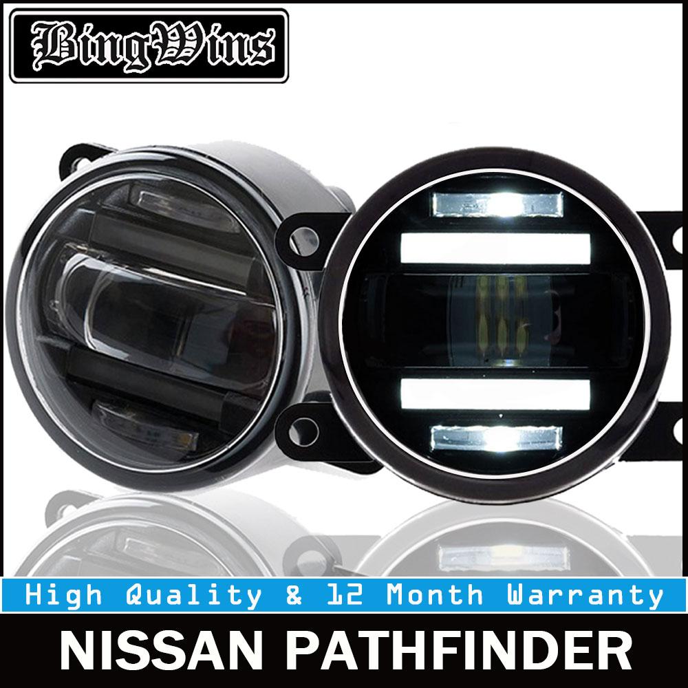 BEINGWINS 2010-12 pour Nissan PATHFINDER feux de brouillard + LED DRL + clignotants voiture style LED feux de jour feux de brouillard LED