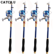 Stick Fishing Rod de Carbon Fiber Fishing Rod for Fish Olta Spinning Telescopic Mini Fishing Rod Set with Reel Pole