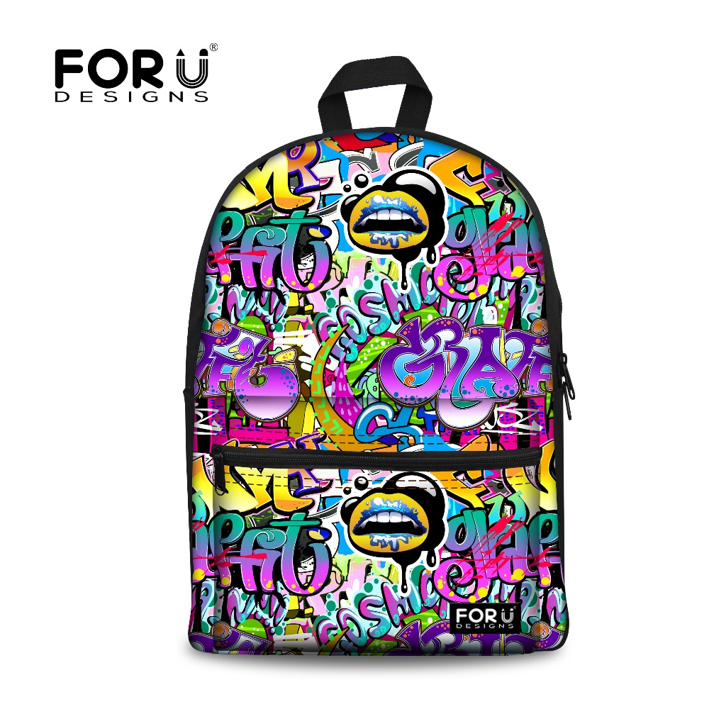 Unique Children Backpacks Designer Kids Graffiti Backpacks Casual ...
