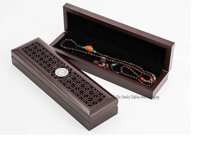 Classical Superior Wooden Necklace Box Jewelry Packaging Boxes