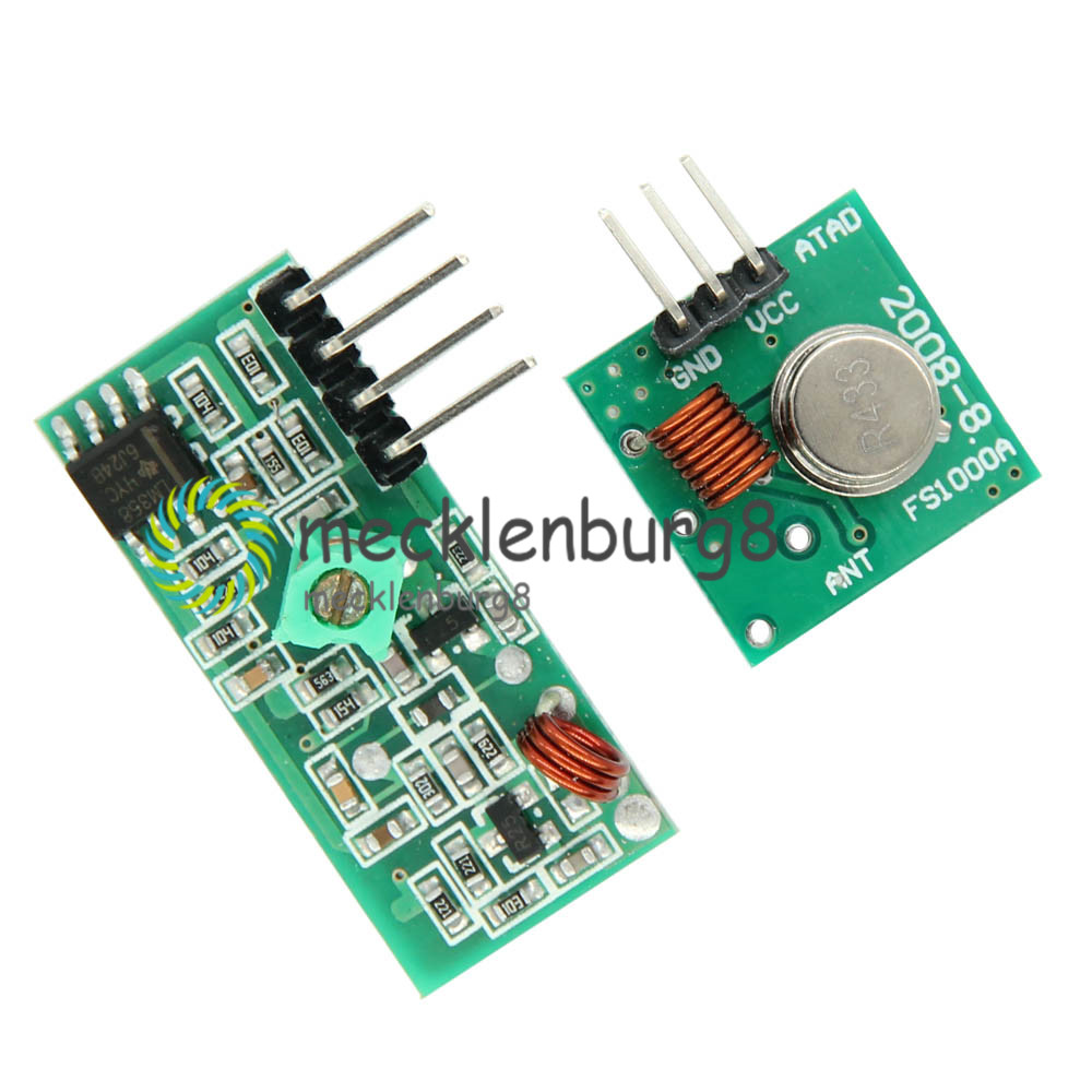 10PCS 433Mhz RF Transmitter And Receiver Link Kit For ARM//MC​U Remote Control