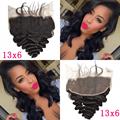 Indian Lace Frontal 13x6 Ear To Ear Lace Frontals With Baby Hair Loose Wave Cheap Virgin Human Hair Full Frontal Lace Closure