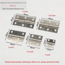 Free shipping Stainless steel small hinge 1/1.5/2/2.5/3 inch bags hinge cupboard door hinge micro window