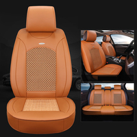 Leather Universal Car Seat Cover Healthy Breathable Linen Driver Seat Cushion Protector Car Styling Automobiles Accessories