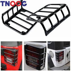 Tnoog матовый черный задний хвост свет гвардии защитная крышка для Jeep Wrangler 2007-2016 JK/Unlimited 2 Дверные рамы или 4 Дверные рамы (пара)