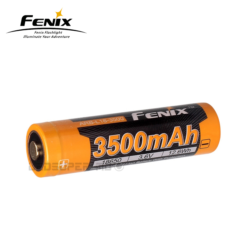 Original Fenix ARB-L18-3500 3500mAh 3.6V Rechargeable 18650 Li-ion Battery for Portable Lighting
