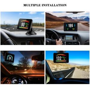 Image 5 - OBDHUD kopf up display Neue Auto Diagnose Werkzeuge OBD2 Auto Reise Auf board Computer Tacho Display Wasser Temperatur RPM
