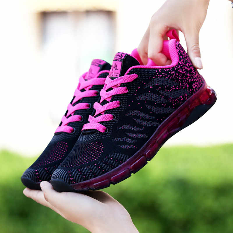 Hundunsnake летняя спортивная обувь женщина 2018 сетки Для женщин кроссовки c воздушными подушками из вспененного материала; Zapatillas Deportivas Mujer черные бегуны Фитнес G-33