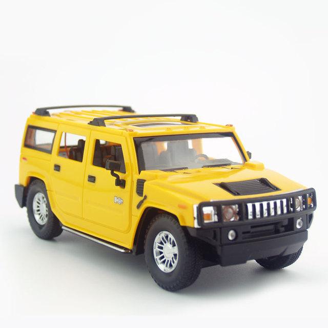 Licenciado 1/24 rc modelo de carro para hummer h2 controle remoto controle de rádio crianças car toys para crianças presentes de natal