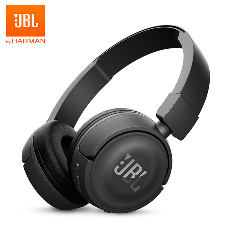JBL T450BT Wireless Bluetooth Headphones Bass Sound Sports Music Foldable Headset Handsfree With Mic Noise Canceling Earphones