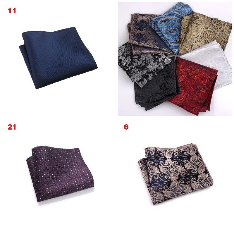2019 Hot Sale Vintage Men British Design Floral Print Pocket Square Handkerchief Chest Towel Suit Accessories MSJ99