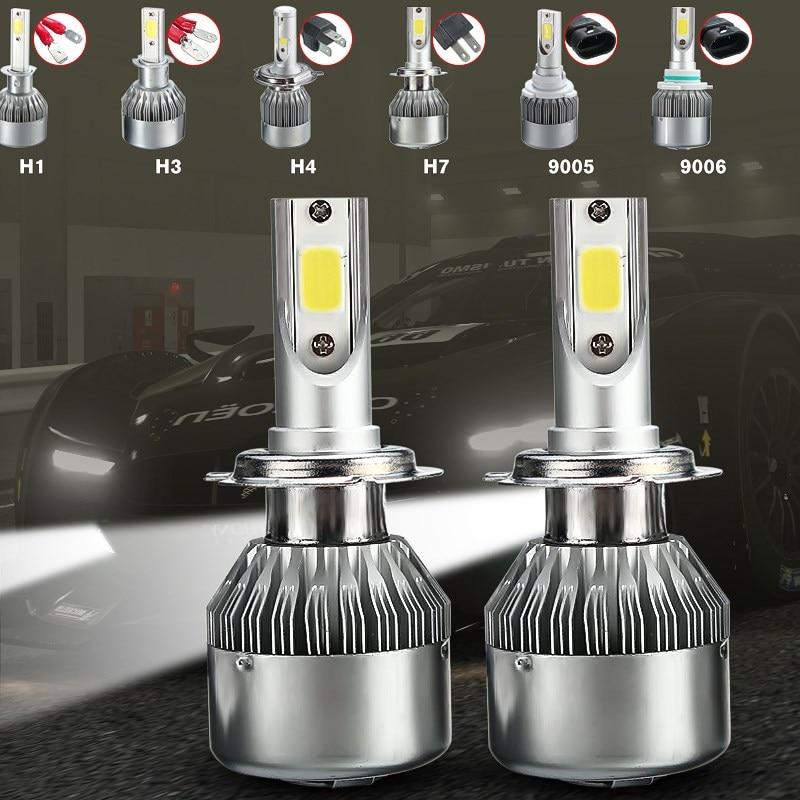 H1 H3 H7 H4 Hi/Lo Beam HB3/9005 HB4/9006 COB LED Auto Car Headlight 72W 7600LM Automobile Front Headlamp Bulb 6000K Car Styling leadtops led h4 h7 h11 h1 h13 h3 9004 9005 9006 9007 cob led car headlight bulb hi lo beam 72w 8000lm 6500k auto headlamp 12v dj