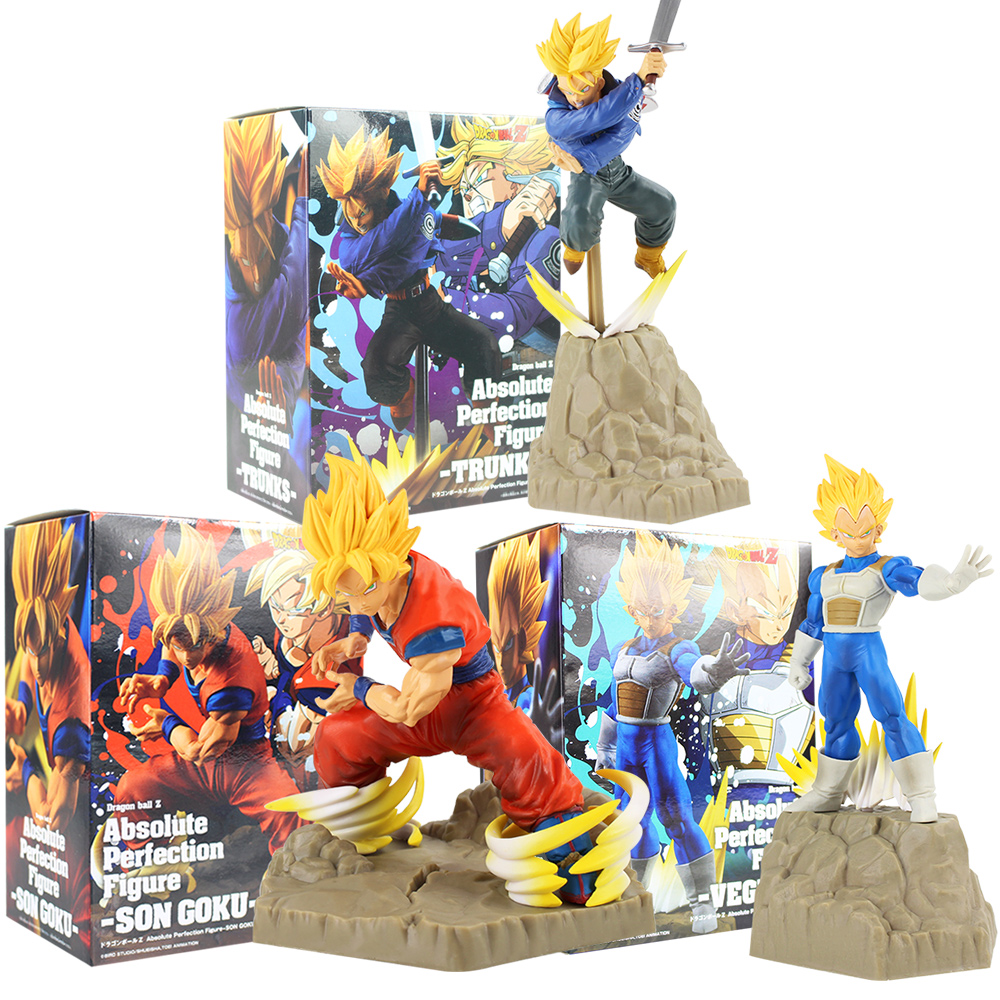 APF DragonBall Z Son Goku /& Vegeta /& Trunks Action figure PVC Toy New In Box