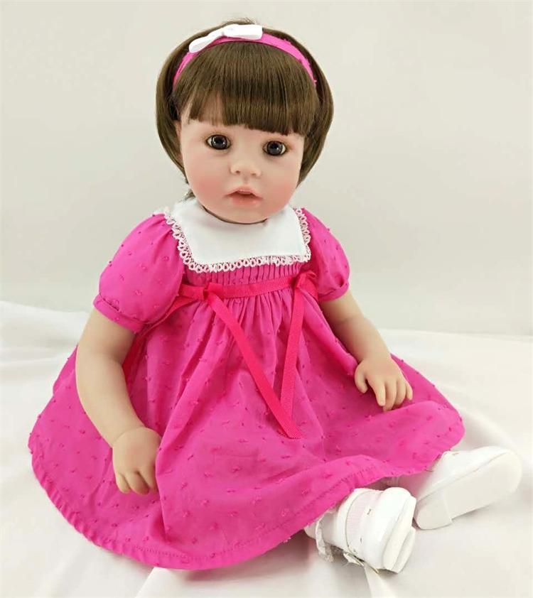 "Здесь продается  Pursue 20""/50 cm Red Dress Short Hair Reborn Fake Baby Girl Toddler Dolls Lifelike Silicone Reborn Baby Dolls Christmas Gifts  Игрушки и Хобби"