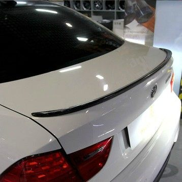 2009-2013 Carbon Fiber Auto Trunk lip spoiler boot wing For BMW E92 M3 Coupe