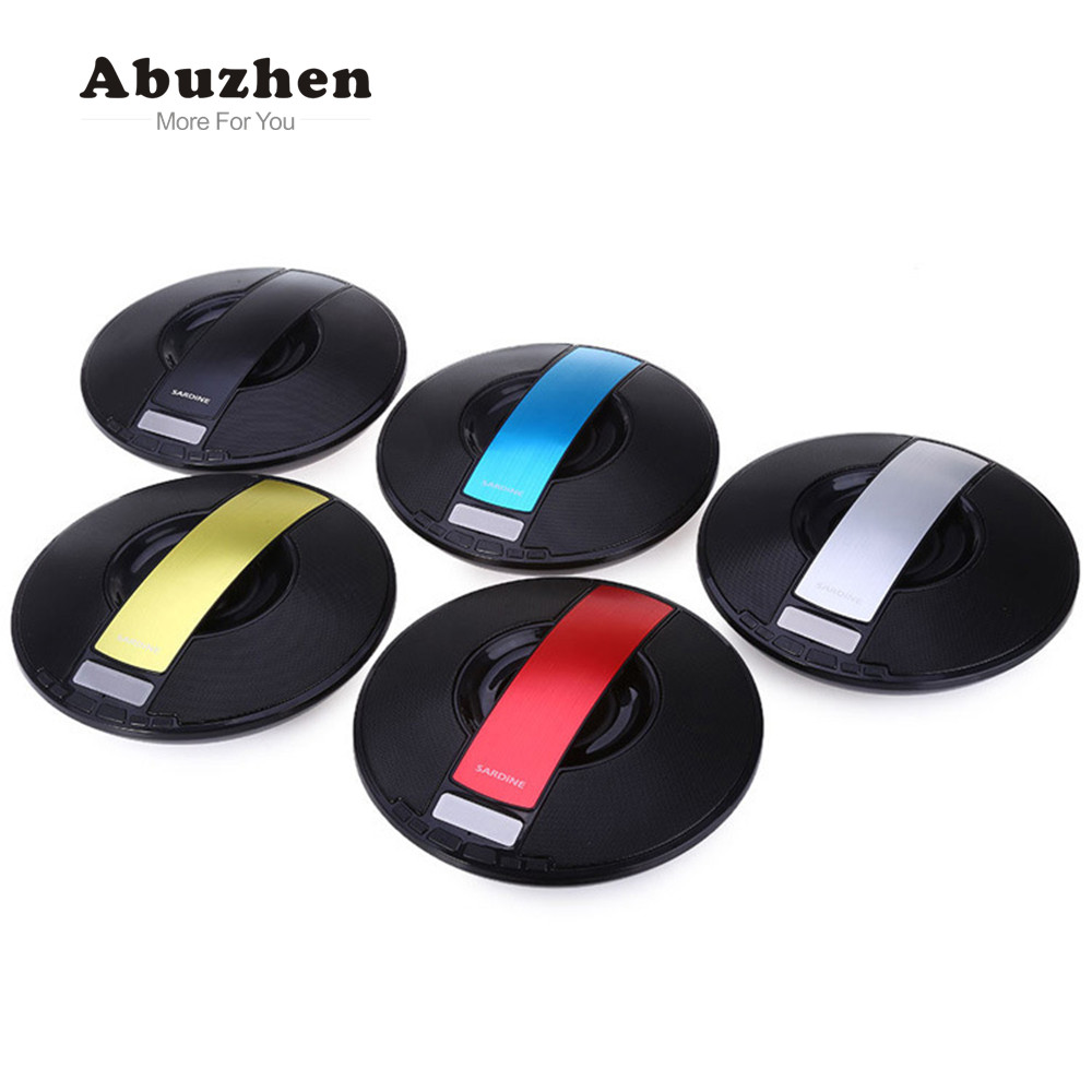 Abuzhen Portable Mini Wireless Bluetooth Speaker Surround Sound Music Player Support TF Altavoz Speaker for Smartphones Computer abuzhen bluetooth speaker led portable wireless speaker mini sound system 3d stereo music mp3 player surround support tf aux usb