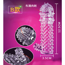 10PCS New Time Delay Crystal Penis Rings Reusable Condom Penis Sleeves Penis Extender Cock Rings Adult Sex Toys for Men 5 Types