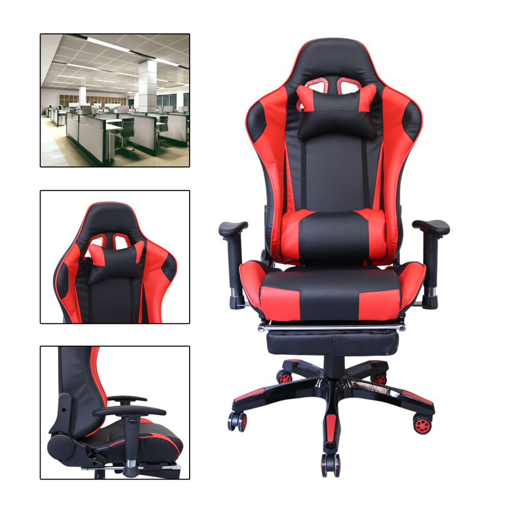 Black-Red adjustable backrest Gaming Racing Chair Office Swivel Chairs Executive sillones Manager Chair fotel cadeiras sumajin smartwrap cord manager red black white