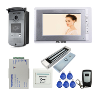 MILEVIEW проводной 7 видео домофон дверной звонок Система 1 монитор 1 RFID камера + Электрический магнитный замок Бесплатная доставка