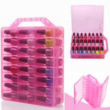 Storage Container Nail-Polish-Holder Makartt Case Clear Ce for 48-Bottles Space-Saver