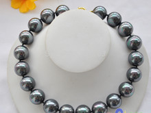 "HOT N488 HUGE 17"" 18MM PEACOCK BLACK SOUTH SEA SHELL PEARL NECKLACE(China)"
