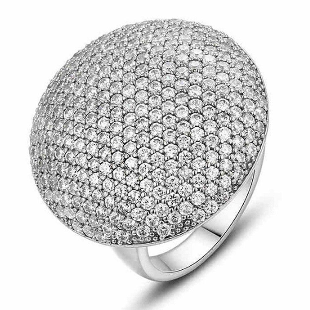 Verlobungsringe Yayi Mode Frauen Schmuck Ring Weiß Cz Silber Farbe Verlobungsringe Trauringe Partei Ringe Geschenk Um Sowohl Die QualitäT Der ZäHigkeit Als Auch Der HäRte Zu Haben
