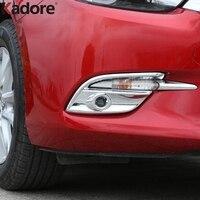 For Mazda 3 M3 Axela 2017 2018 ABS Chrome Front Foglight Fog Light Cover Trim Car Protect Exterior Accessories Sticker