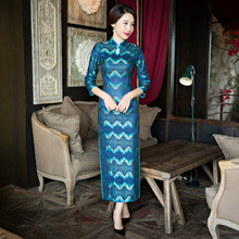 New Arrival Vintage Women's Lace Long Cheongsam Fashion Chinese Style Dress Elegant Qipao Size M L XL XXL XXXL F092712