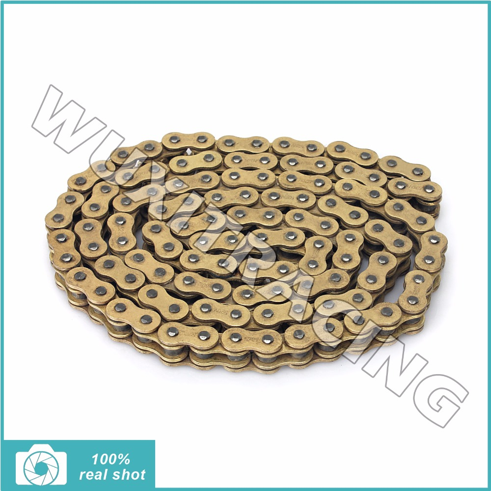 BIKINGBOY Chain 520 x 120 Links New Dirt Bike X-Ring Drive Chains for HONDA CR 230 250 F R CRF 250 450 R X XR 250 650 R 84-2016 new motorcycle 520 o ring gold drive chain 120 links 520 x 120 with masterlink