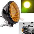 """Free Shipping 12V 5"""" Universal Motorcycle Black 30 LED Headlight For Harley Racer Bobber"""