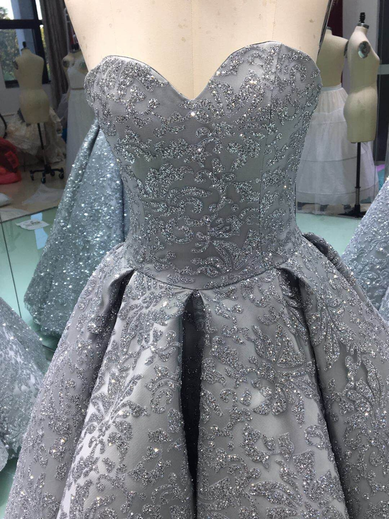 Image 2 - Real photo New Arrival Ball gown Evening dress 2020 Saudi Arabia Evening gown Sequine Lace Formal dress Kaftan Evening partydress kaftanball gown evening dressevening gown -