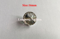Free Shipping Wholesale 72pcs/lot 16mm Czech Rivoli Rhinestone Button Decorative Sofa Button Scrapbooking Button LSCZ002