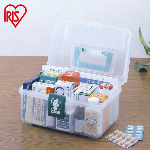 Japan Alice IRIS Direct Adjustable Hygiene Kits Resinfinish Medicine Storage  Box