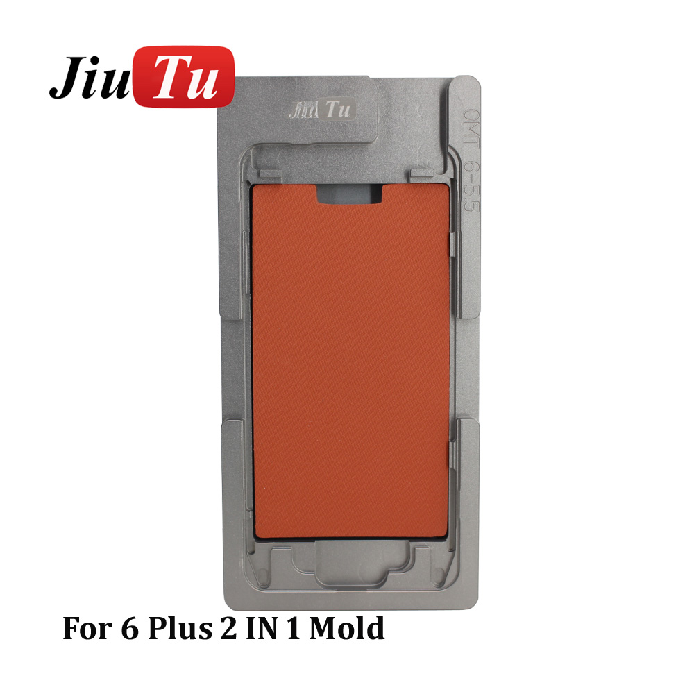 Aluminium Mould For iPhone plusX Laminator mold metal jig Only for the front glass with frame Location for OCA user (2)