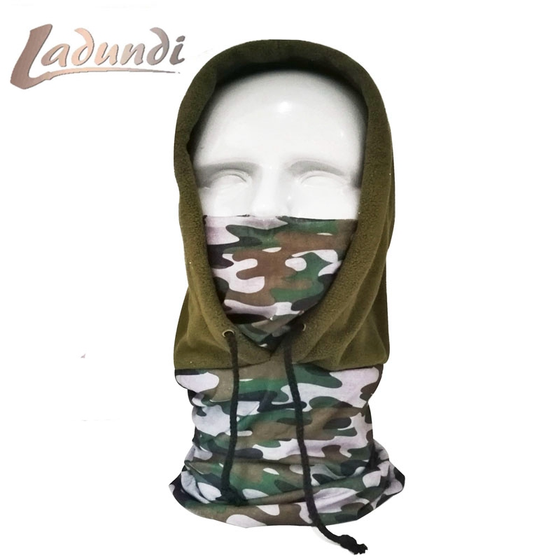 LADUNDI Tactical Full Face Mask Hood Balaclava Headgear Caps Camouflage Hunting Hat Winter Neck Warm Headwear Masks Scarf 3 color camouflage tactical face paint sticks 20ml