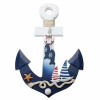 Mediterranean Wall Door Hanging Decor Pine Nautical Fish Anchor Hook Ornament