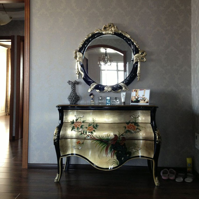 New Chinese Hand Painted Living Room Luxury Garden Entrance Hallway