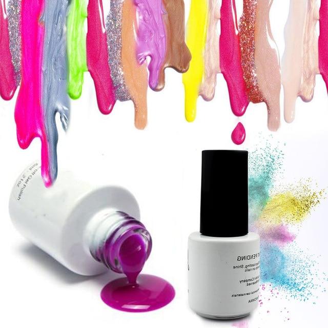 40 colores 6 ml Bling Uñas de gel eco orgánica inodoro UV & LED gel ...