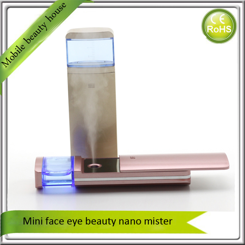 Hydra Spa Nano Mist Ion Spray Facial Mister Sprayer Moisturizing Vaporizer Atomizer Steamer Mini Face Eye Beauty Instruments nano ionic facial mist sprayer hot mist moisturizing cleaning whitening skin humidifier thermal spa face steamer face spa 220v