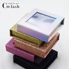 Colash полная распродажа накладных ресниц по индивидуальному заказу упаковочная коробка Пользовательский логотип 3d норковые ресницы Коробки искусственный фарет полосы Магнитный чехол пустой
